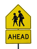 Pedestrians Crossing Road sign Stock Photo