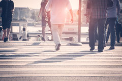 Pedestrians crossing the street Royalty Free Stock Photos