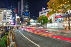 Pedestrians crosswalk at Shibuya district in Tokyo, Japan Royalty Free Stock Photos
