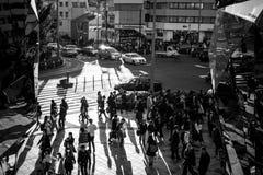 Pedestrians crosswalk at Shibuya district in Tokyo, Japan Royalty Free Stock Image