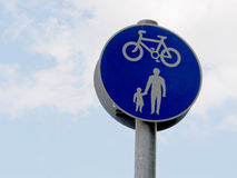 Pedestrians and cycles sign Royalty Free Stock Images
