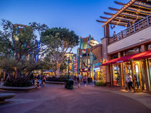Pedestrians  at Downtown Disney Stock Image