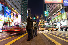 Pedestrians drogi skrzyżowanie Zdjęcie Stock