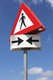 Pedestrians. Dutch road sign: pedestrians crossing Royalty Free Stock Photos