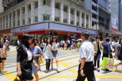 Pedestrians gone through zebra Royalty Free Stock Images