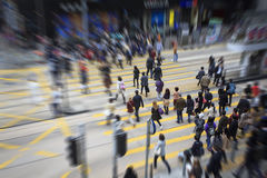 Pedestrians in Hong Kong Stock Image