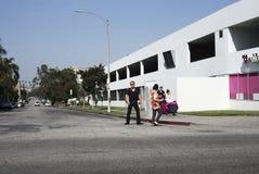 Pedestrians Koreatown Los Angeles Royalty Free Stock Image