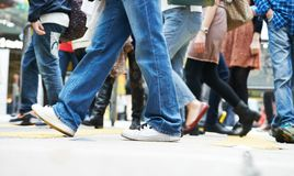 Pedestrians moving on the street Royalty Free Stock Images