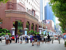 Pedestrians on Orchard road royalty free stock photos
