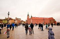 Pedestrians in outdoor square Stock Photos