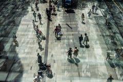 Pedestrians, Pitt Street Mall, Sydney CBD Stock Images