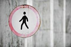 Pedestrians Prohibited Royalty Free Stock Photo