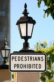 Pedestrians prohibited sign Stock Photo