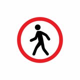 Pedestrians prohibited sign vector design Stock Image