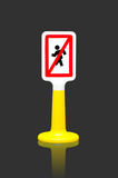 Pedestrians Prohibited traffic sign Stock Image