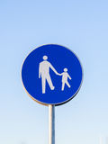 Pedestrians only Royalty Free Stock Photo
