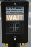 Pedestrians road signal Stock Image