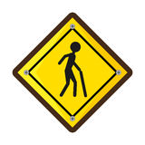 Pedestrians on the road Stock Photography