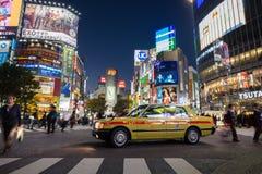 Pedestrians at Shibuya Crossing, Tokio, Japan Royalty Free Stock Image