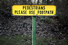 Pedestrians sign Stock Photo