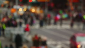 Pedestrians on the Street. Blurred. USA. New York City. Unrecognizable pedestrians on the street. Slow motion. Blurred stock video footage