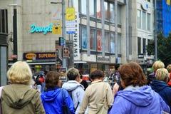Pedestrians on streets, Prague, Czech Republic Royalty Free Stock Photography