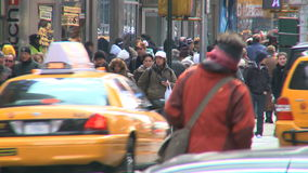Pedestrians and traffic 8 of 16. The Pedestrians and traffic 8 of 16 stock footage