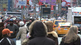 Pedestrians and traffic 5 of 16 stock footage