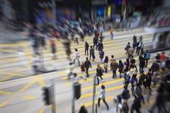 Pedestrians w Hong Kong obraz stock