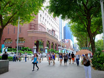 Pedestrians on Orchard Road Stock Image
