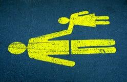 Pedestrians znak zdjęcia royalty free