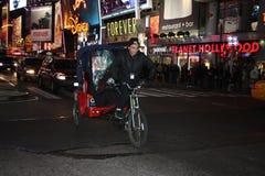 Pedi-Fahrerhaus inTimes quadrieren, NYC Lizenzfreies Stockbild