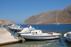 Pedi harbour, Symi Royalty Free Stock Image
