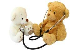 Pediater met een kleine patiënt Royalty-vrije Stock Foto's