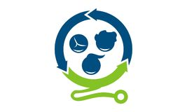 Pediaterkliniek Logo Design Template stock illustratie