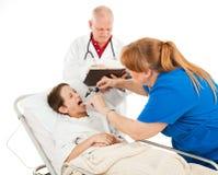 Pediatría - paciente infeliz Fotografía de archivo