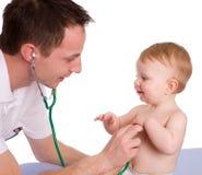 Pediatra Fotografie Stock Libere da Diritti