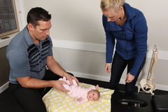 Pediatric Chiropractic Royalty Free Stock Image