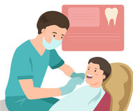 Pediatric dentist. Vector illustration. Doctor Royalty Free Stock Photos