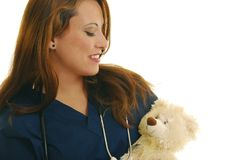 Pediatric nurse Royalty Free Stock Images
