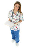 Pediatric Nurse in Scrubs Royalty Free Stock Photos
