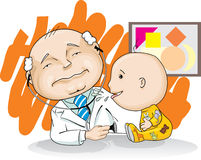Pediatrician and baby Royalty Free Stock Photo