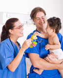 Pediatrician and baby Royalty Free Stock Image