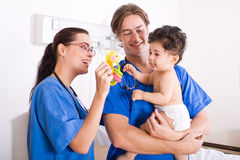 Pediatrician and baby patient Stock Photo
