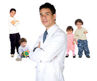 Pediatrician with children Royalty Free Stock Image
