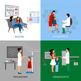Pediatrician Design Concept Stock Images