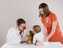 Pediatrician doctor Stock Image