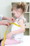 Pediatrician measuring toddler's chest Stock Photos