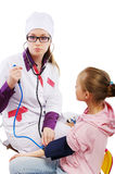 Pediatrician and patient Royalty Free Stock Photos