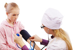 Pediatrician and patient Stock Photography